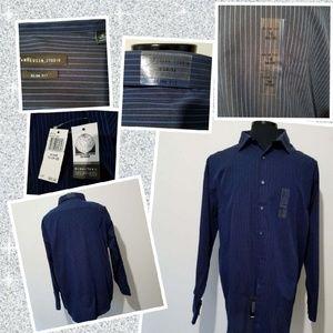 OeKo.Tex new pen stripped  shirt 18 34/35 size